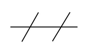 Hästens böjning som ett parallellogram.