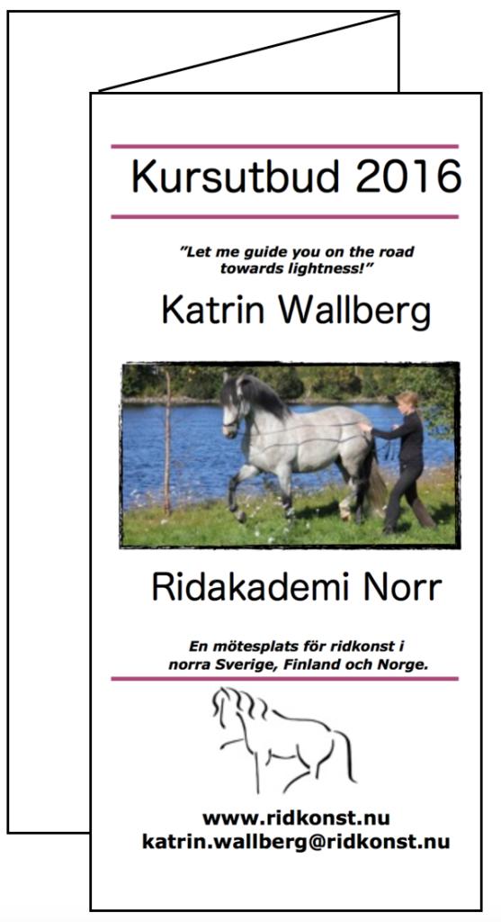 Kursutbud 2016 på Ridakademi Norr